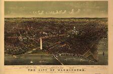 Washington Dc Vintage Panoramic Maps Collection On Cd