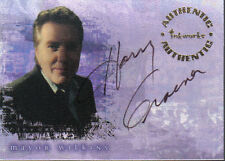 BUFFY REFLECTIONS  AUTOGRAPH CARD A4 HARRY GROENER AS MAYOR WILKINS