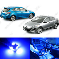 8 x Premium Blue LED Lights Interior Package Kit for 2010-2014 Mazda 3 + Tool
