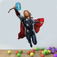 Wall art Graphic AVENGERS ASSEMBLE THOR WITH HAMMER 001 Printed Vinyl Sticker