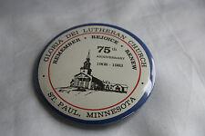 Gloria Dei Lutheran Church 75th Anniversary 1908 1983 Button St. Paul Minnesota