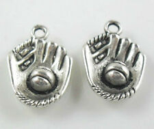 5/20/120pcs Antique Silver/Bronze Baseball Glove Charms Pendant  (Lead-free)