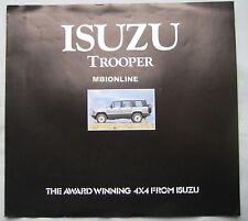 Isuzu Trooper Brochure