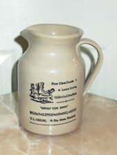 Ladies Rink Boots Advertising Stoneware Crock Pitcher