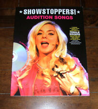 SONG BOOK + CD: Showstoppers! Audition Songs 2010 Wise Female Vocal Piano Guitar