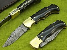 Damastmesser Taschenmesser Jagdmesser-Damast taschenesser- Klappmesser   (TZVs)