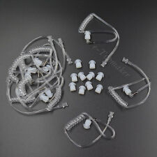 10 x Coiled Acoustic Tube + Earbuds for CB Ham Radio Headset Earpiece Earphone