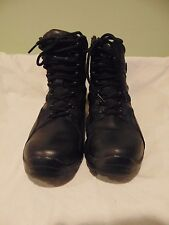 Men's Harley Davidson Hawkins Black Leather Boots Size 8 Motorcycle Street Gear