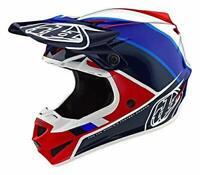 Troy Lee Designs SE4 POLYACRYLITE BETA RED / BLUE Helmet