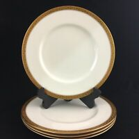 Set of 4 VTG Dinner Plates Royal Worcester Patrician Gold Band C1027 England