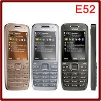 Classic Nokia E52 Cell Phone - Unlocked Smartphone Grey/Black/Gold 3G GPS 3.2MP