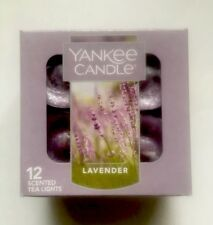 YANKEE CANDLE LAVENDER TEA LIGHTS BOX OF 12 HTF SCENT AROMATHERAPY
