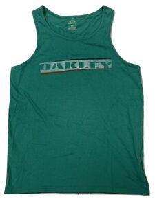 Oakley Men's Slant Bar Tank Top Tee T-Shirt Teal Green (S, XL, 2XL)