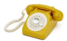 GPO 746 Rotary Telephone - Mustard