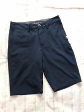 Quiksilver Dryflight Shorts Boys size 26 / 12 Amphibian Navy Blue H2 Hybrid New