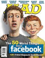 Mad Magazine Facebook Mark Zuckerberg Angry Birds Charlie Sheen Spider-Man 2011