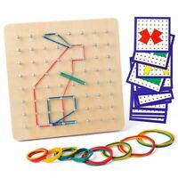 Wooden Geoboard Mathematical Manipulative Material Array Block Geo Board