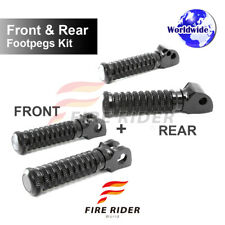 Front & Rear Kit Set Black CNC Pole Footpegs For Ducati 899 Panigale S/R 13-16