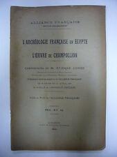 ETIENNE COMBE L'ARCHEOLOGIE FRANCAISE EN EGYPTE L'OEUVRE DE CHAMPOLLION 1923 BE