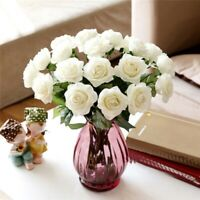 10Psc/Set Head Real Latex Rose Flowers For Wedding Party Bouquet Home Decorate