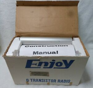 NOS unbuilt kit Enjoy TR-60 transistor radio with original box