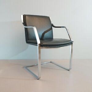 1-6 X Walter Knoll Type Collection Glatzel Cantilever Leather Black 3.AWB