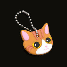 Rubber Soft Cute Puppy Key Cover Top Cap Keyring Bag/Phone Keychain Ornament CA