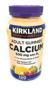 Kirkland Signature Calcium 500 mg with D3 120 Adult Gummies