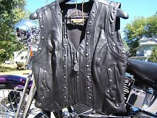 HARLEY DAVIDSON SPRINGER BORDER LEATHER VEST WOMEN'S