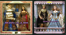 Camelot Barbie Doll King Arthur Guinevere Merlin Morgan LeFay Together Gift Set