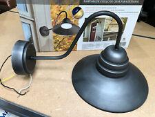 Capstone Lighting LED Outdoor Gooseneck Lantern 2k Lumen Dusk-to-Dawn Sensor