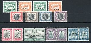 SOUTH WEST AFRICA , 1930 , 1935 , FOUR better issues ( onetimes pairs ) , MH