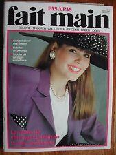 Revue FAIT MAIN Pas à pas n°3 - 1989