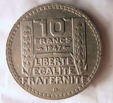 1947 B FRANCE 10 FRANCS - Collectible Coin - FREE SHIPPING - France Bin #4