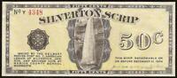 1933 SILVERTON SCRIP 50 CENT OREGON DELBERT REEVES POST 7 AMERICAN LEGION