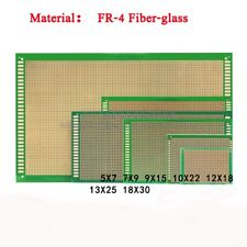 Universal Prototype Printed Circuit Board Epoxy Fr 4 Fiber Glass Yellowgreen