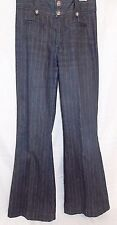 Rich & Skinny Jeans Wide Leg High Waist Stretch Black Pinstripe size 27 Lanky