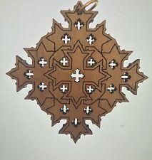 CROSS Coptic Laser Carved Wooden Orthodox, Christian Jesus USA