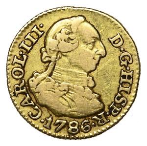 SPAIN, Carlos III. Gold 1/2 Escudo, 1786