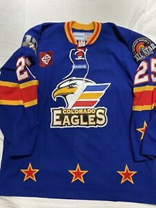 COLORADO EAGLES Game ISSUED Jersey ECHL JAKE MARTO ALL STAR TM
