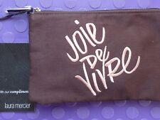 LAURA MERCIER Joie de Vivre cotton MakeUp Cosmetic Bag, Primer,Mascara, Lipstick