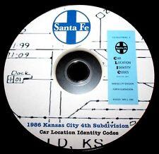 Atchison Topeka & Santa Fe 1986 Kansas City #4 CLIC Book  PDF Pages DVD