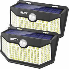 2 Lamparas 120 Led Luces Solares Exterior Para Patio Con Sensor De Movimiento