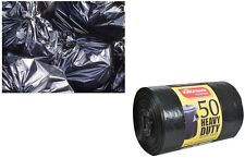 50 Large 120L Thick Black Refuse Sacks Strong Heavy Duty Rubbish Bags Bin Liners