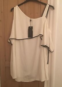 EVANS SIZE 28 WINTER WHITE EVENING TOP NEW WITH TAGS