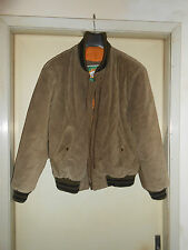 Jacket BOMBER In Pelle Di Camoscio Suede Uomo Man Size 52 Vintage MADE IN 51d3dbe3cff