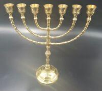 Jerusalem Menorah 12 Inch Height Brass 7 Branches Menorah Jewish Israel Judaica