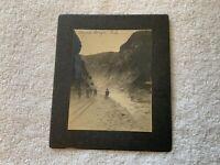 Original Matted 1903 Photograph Royal Gorge Colorado Cabinet Photo