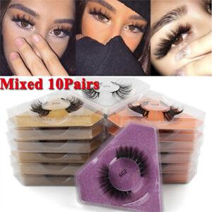 10 Pairs 3D Mink Lashes Natural Mink Eyelashes Wholesale False Eyelashes Makeup
