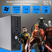 Windows 10 dell core 2 QUAD Desktop Gaming PC Computer - 16GB DDR3 - 1TB-HDMI